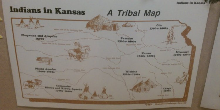 Map of n indian tribes