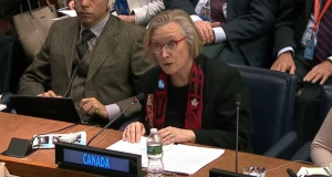 Carolyn Bennett during the un