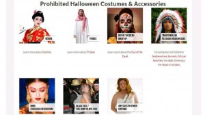 The student union at Brock University in St. Catharines, Ontario, has actually prepared a summary of prohibited costumes because of its annual Halloween celebration. Canadian universities are attempting to simply take a more proactive approach to offensive costumes.